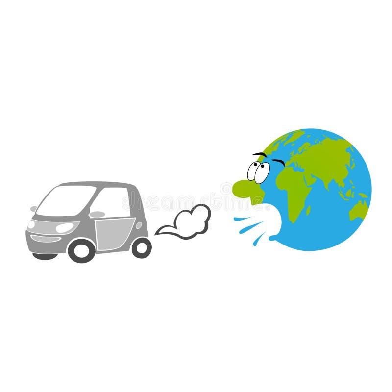Exaustão do carro ilustração do vetor