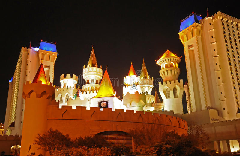 Excalibur旅馆和赌博娱乐场,拉斯维加斯 库存图片
