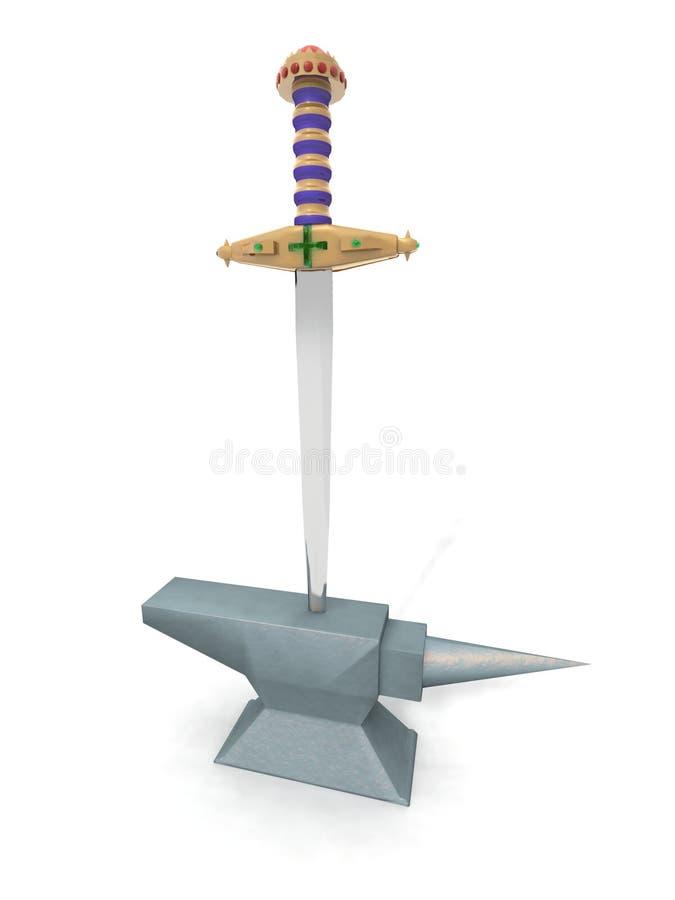 Excalibur illustration libre de droits