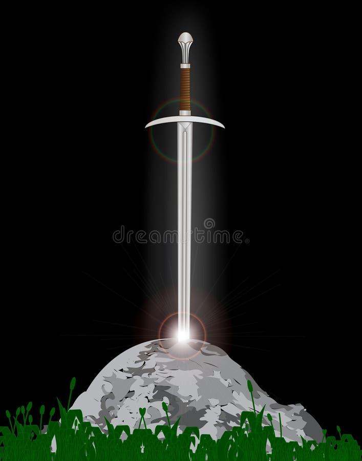 excalibur illustration stock