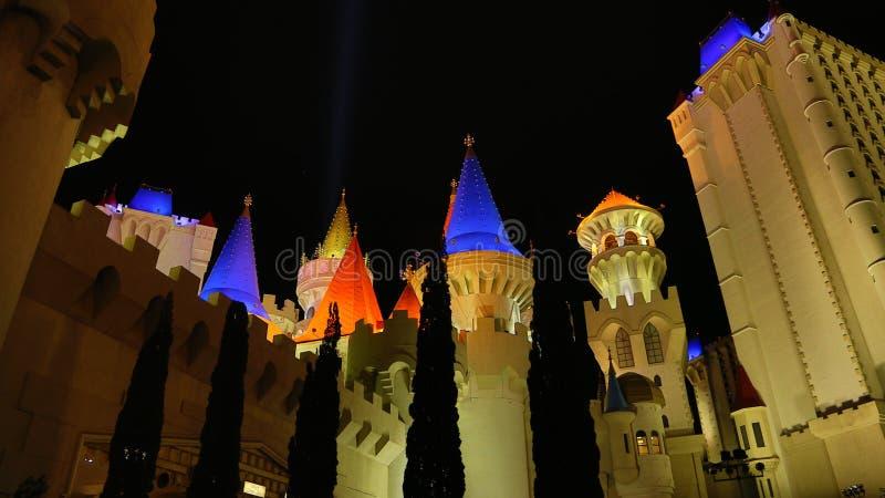 Excalibur Casino in Las Vegas royalty free stock image