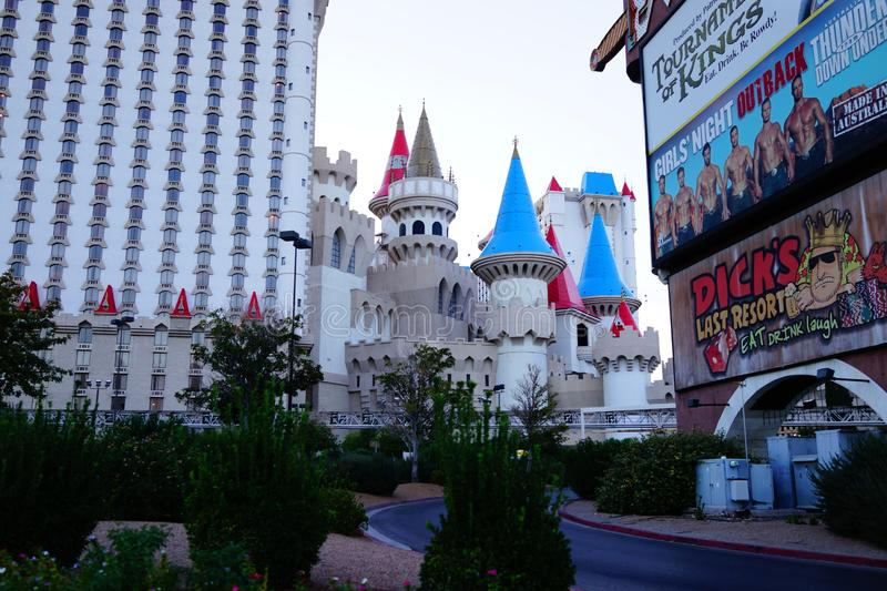 Excalibur Hotel & Casino 36. Excalibur offers everything you expect from a Las Vegas casino, with an extra dose of fun and friendliness. At the castle, you royalty free stock image