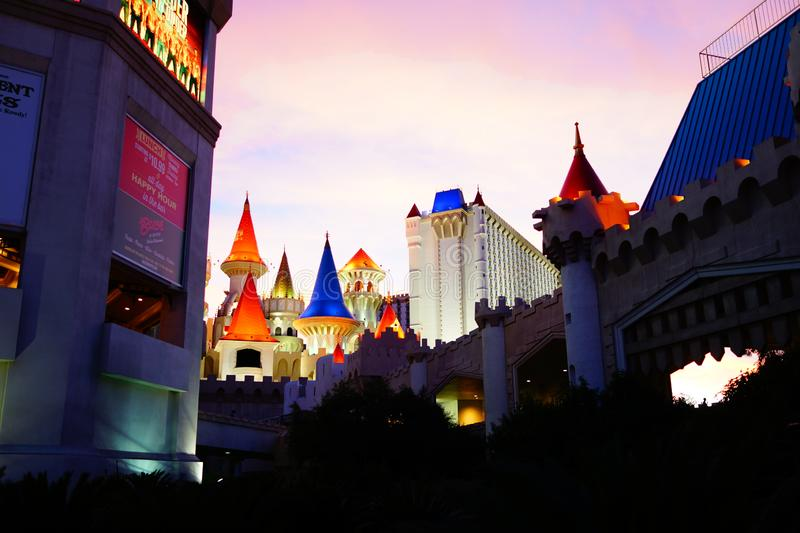 Excalibur Hotel & Casino 32. Excalibur offers everything you expect from a Las Vegas casino, with an extra dose of fun and friendliness. At the castle, you royalty free stock photo