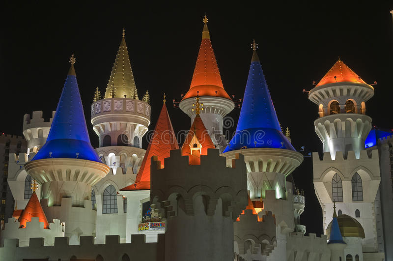 Excalibur Hotel and Casino In Las Vegas royalty free stock images