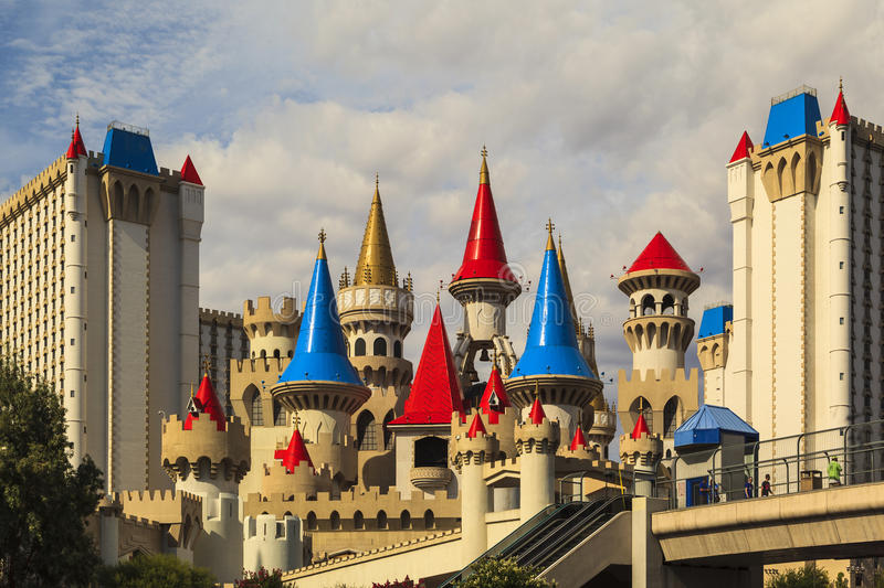 The Excalibur Hotel and Casino - Las vegas royalty free stock images