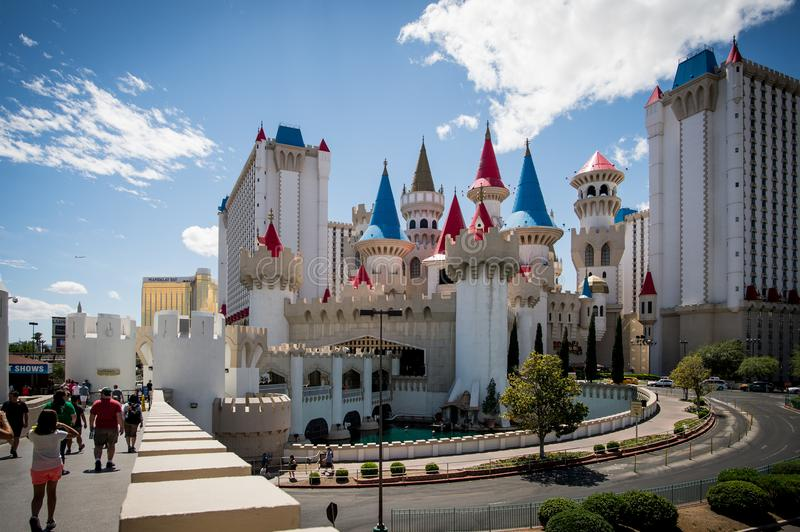 Sunny day in Las Vegas. Castle. royalty free stock images