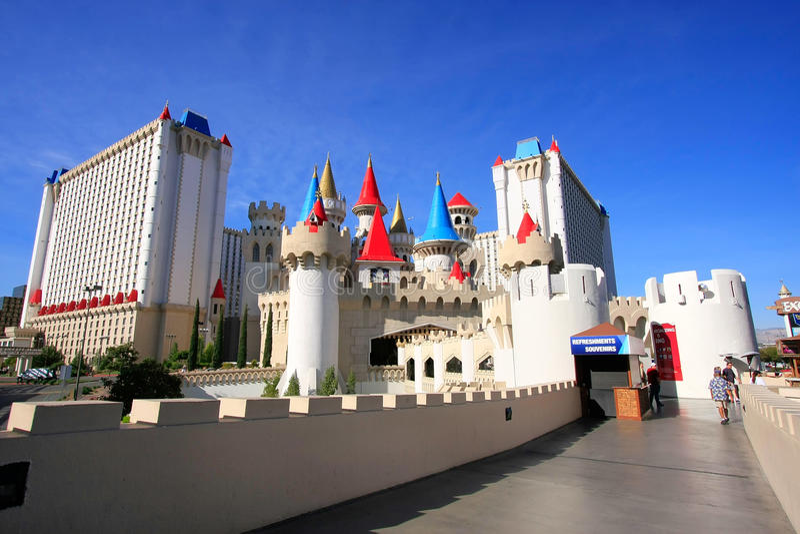 Excalibur hotel i kasyno, Las Vegas, Nevada obrazy stock