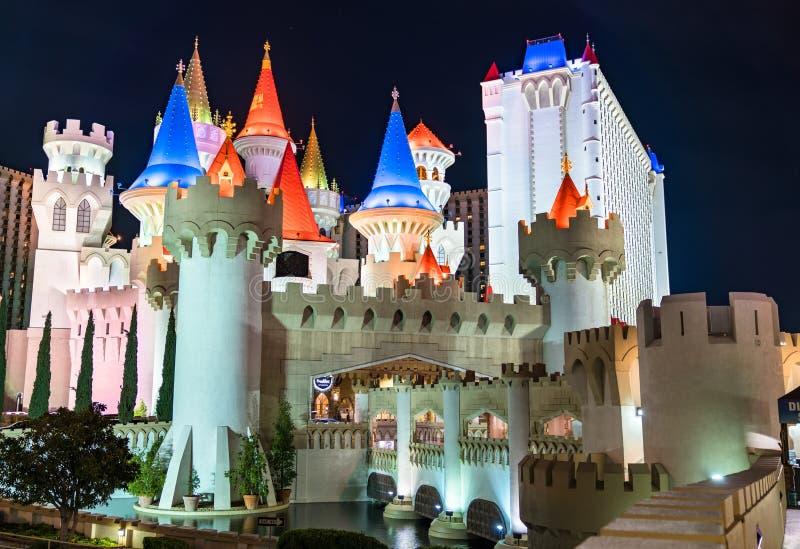 Excalibur Hotel och Casino i Las Vegas - Nevada, Förenta staterna arkivfoton