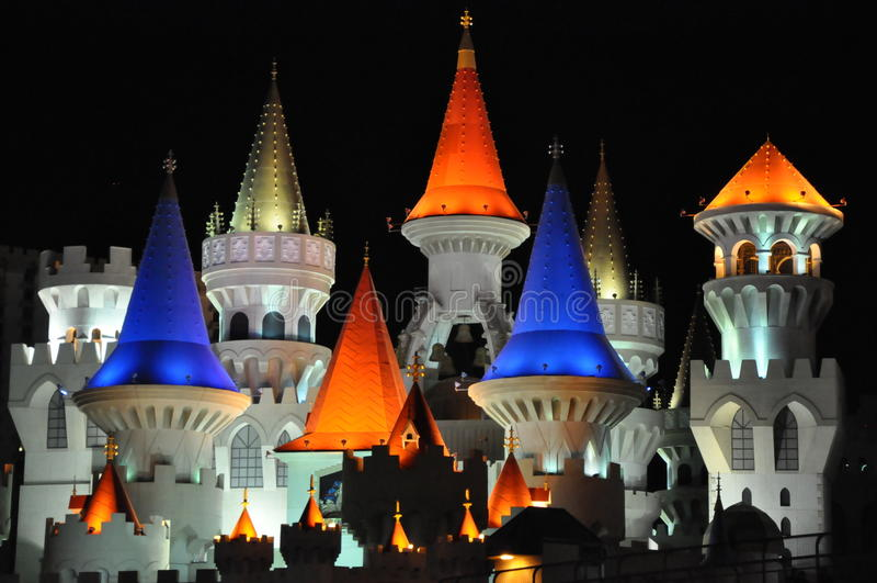 Excalibur hotell och kasino i Las Vegas royaltyfri fotografi