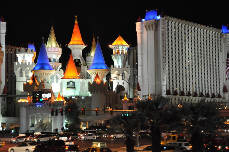 Excalibur kasyno w Las Vegas i hotel zdjęcia stock