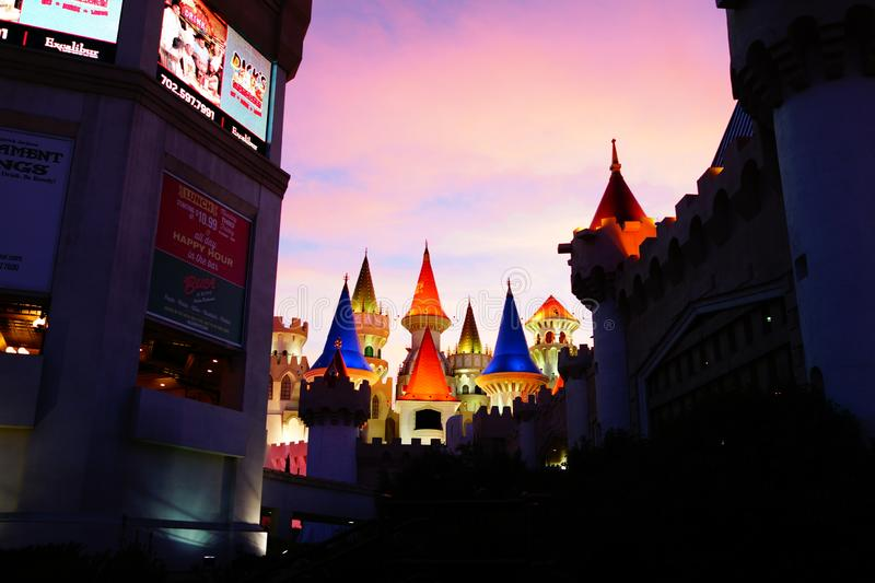 Excalibur Hotel & Casino 31. Excalibur offers everything you expect from a Las Vegas casino, with an extra dose of fun and friendliness. At the castle, you royalty free stock photos