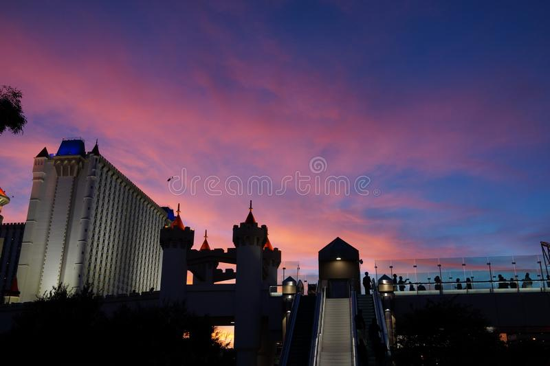 Excalibur Hotel & Casino 30. Excalibur offers everything you expect from a Las Vegas casino, with an extra dose of fun and friendliness. At the castle, you royalty free stock image
