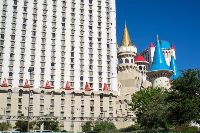 Excaliburhotel & Casino in Las Vegas stock foto's
