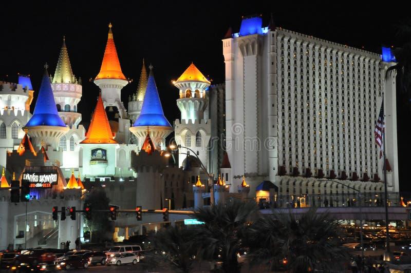 Excaliburhotel en Casino in Las Vegas royalty-vrije stock foto's