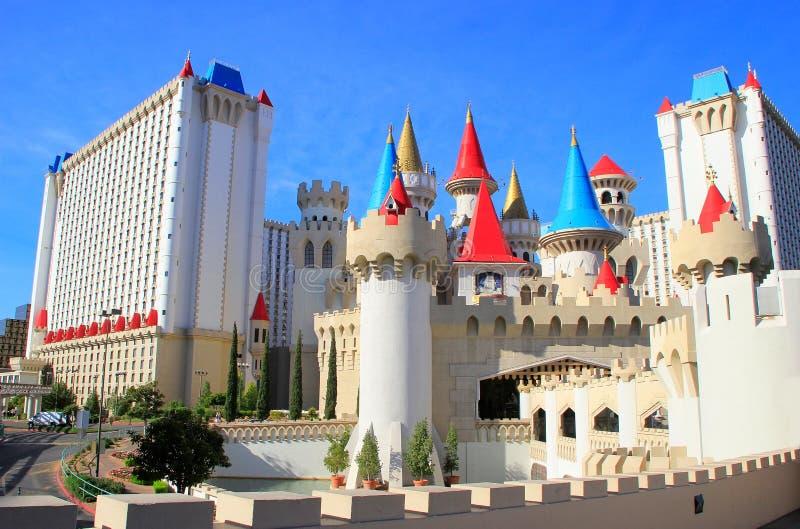 Excaliburhotel en casino, Las Vegas, Nevada stock afbeeldingen
