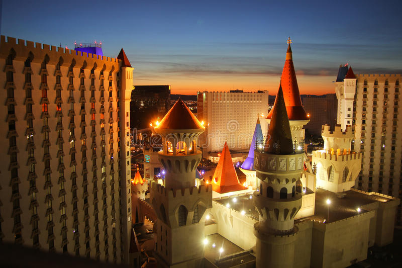 Excaliburhotel Las Vegas stock fotografie