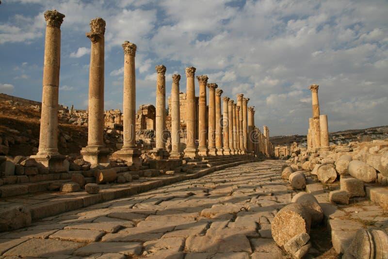 Excavación arqueológica en Jerash (Jordania) imagenes de archivo