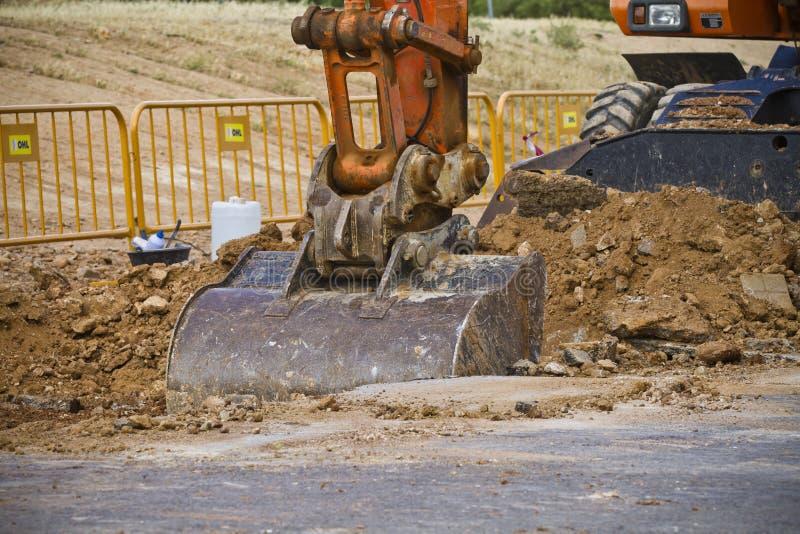 Excavación grande de la construcción, detalle imagen de archivo