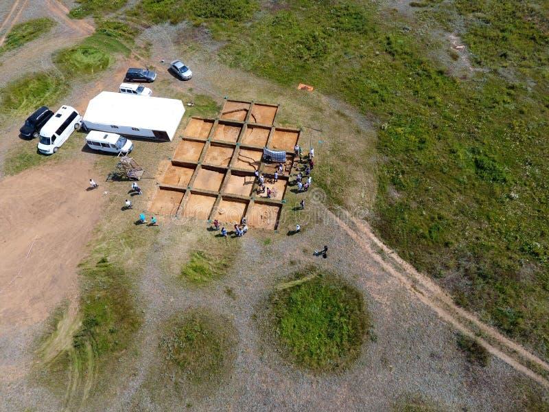 Excavaciones arqueológicas imagen de archivo