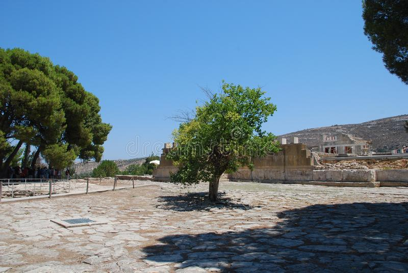 Excavaciones de la ciudad antigua de Heraklion, Creta fotografía de archivo