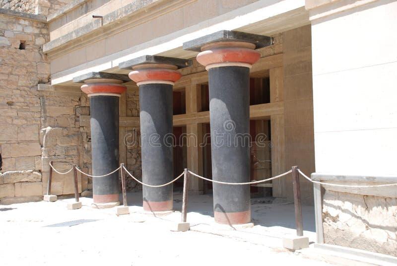 Excavaciones de la ciudad antigua de Heraklion, Creta imagenes de archivo