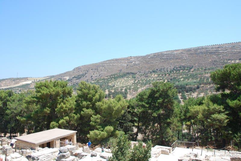 Excavaciones de la ciudad antigua de Heraklion, Creta imagen de archivo libre de regalías