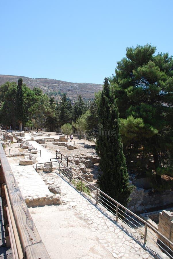 Excavaciones de la ciudad antigua de Heraklion, Creta foto de archivo