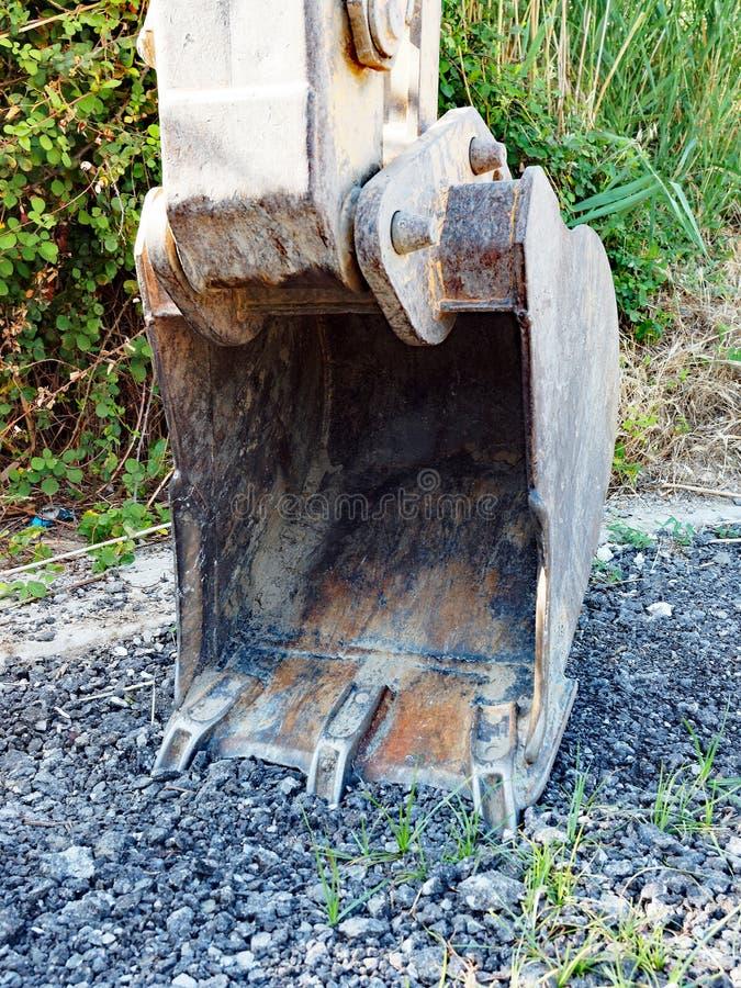 Excavador Bucket, detalle imágenes de archivo libres de regalías