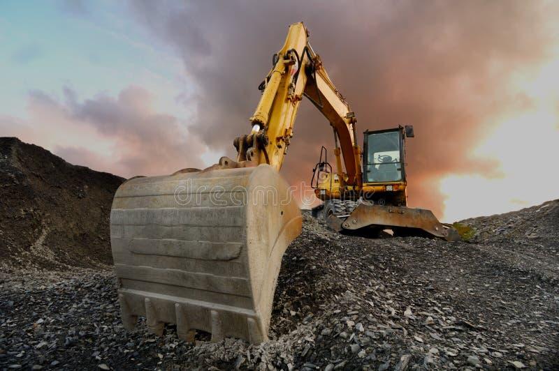 Excavador de la mina imagen de archivo