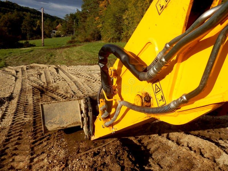 Excavador en descanso foto de archivo