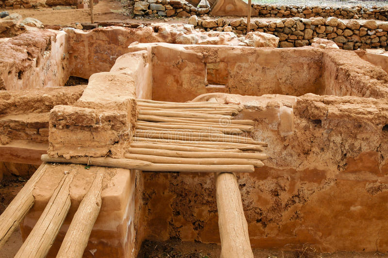 Download Excavation at Malia stock photo. Image of minoan, protection - 31969722