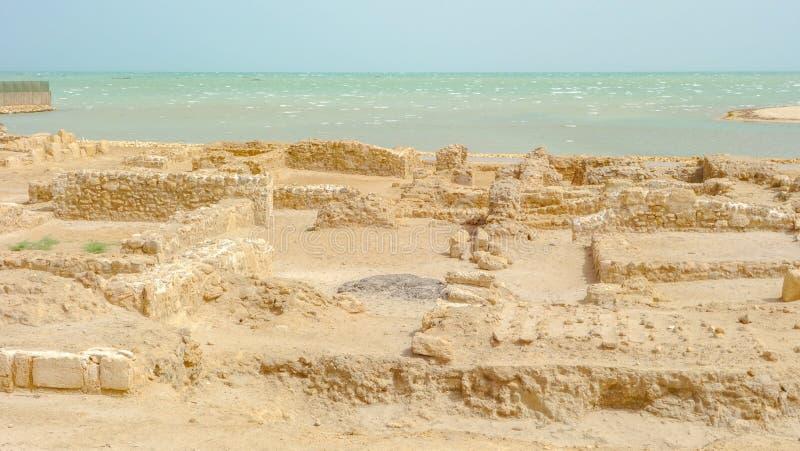 """Excavations archéologiques, Qal """"chez l'Al-Bahrain photos stock"""