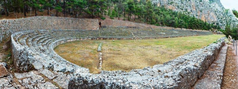 Excavations de la ville antique de Delphes (Grèce) photo stock