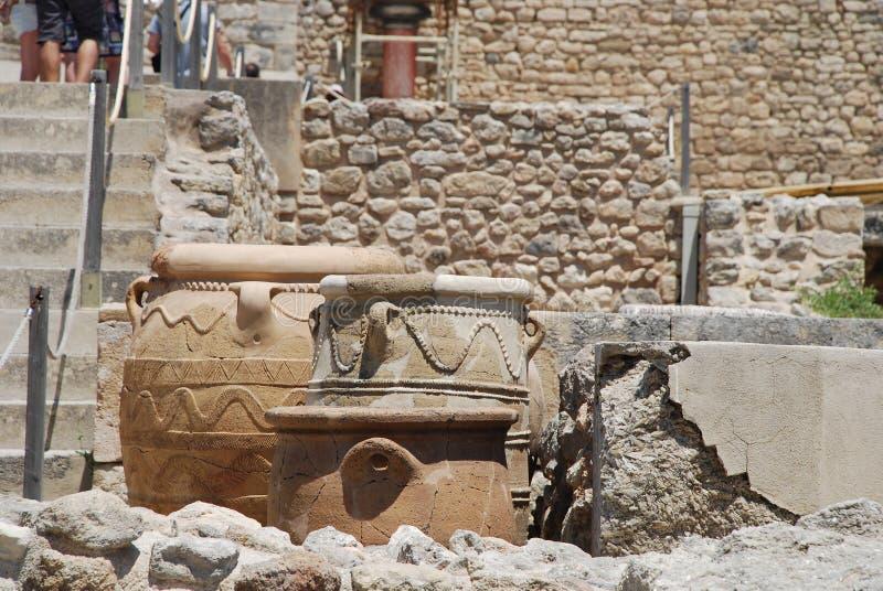 Excavations de la ville antique de Héraklion, Crète photos stock