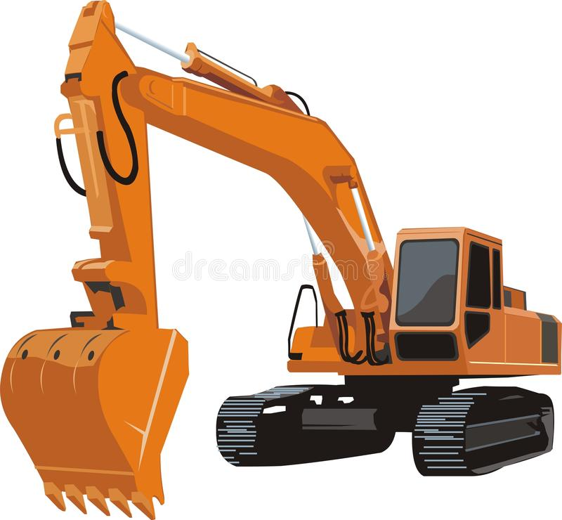 Excavator stock illustration