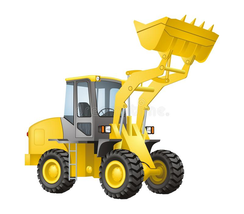 Excavator royalty free illustration