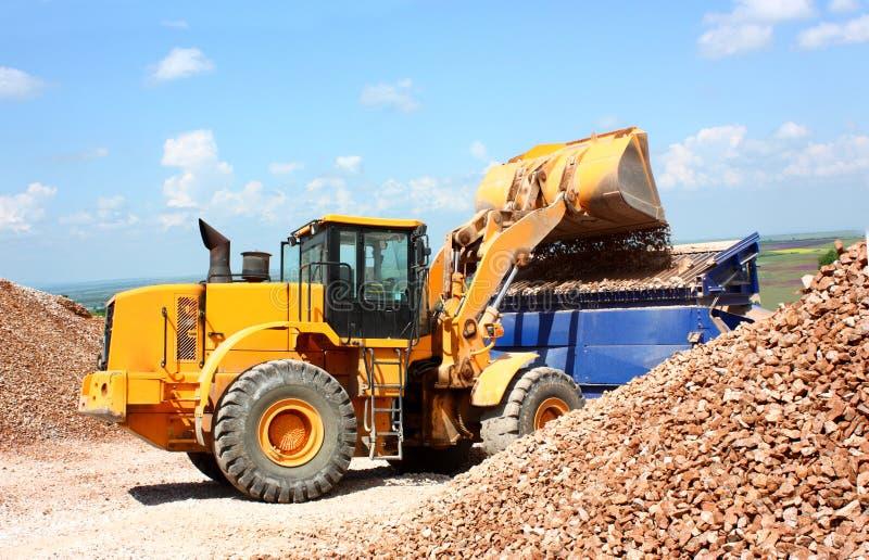 A excavator stock photography