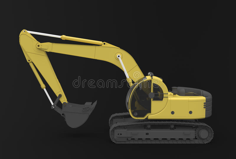 Download Excavator stock illustration. Image of navvy, equipment - 26135560
