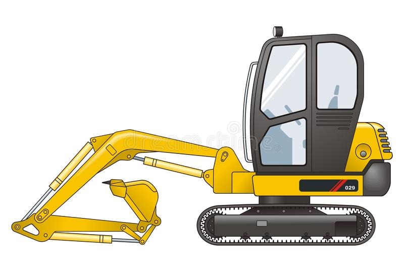 Excavator. Vector illustration of Excavator Special royalty free illustration