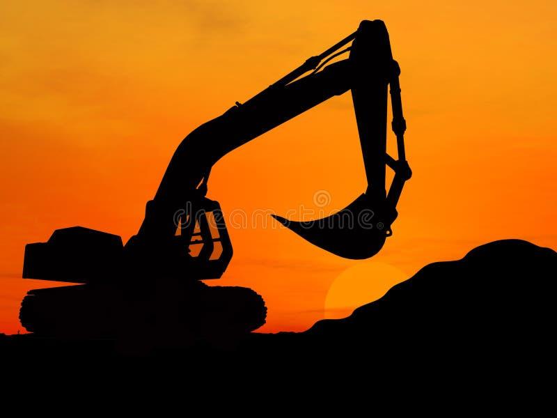 Download Excavator stock photo. Image of machinery, icon, illustration - 3545468