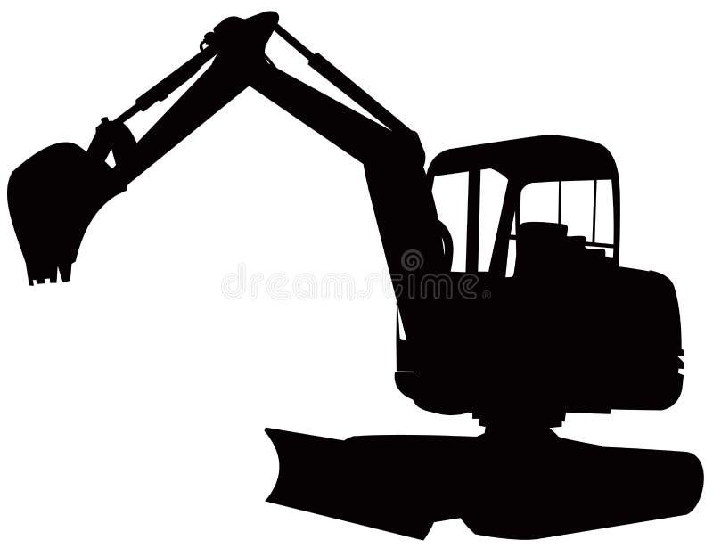 excavator vektor illustrationer