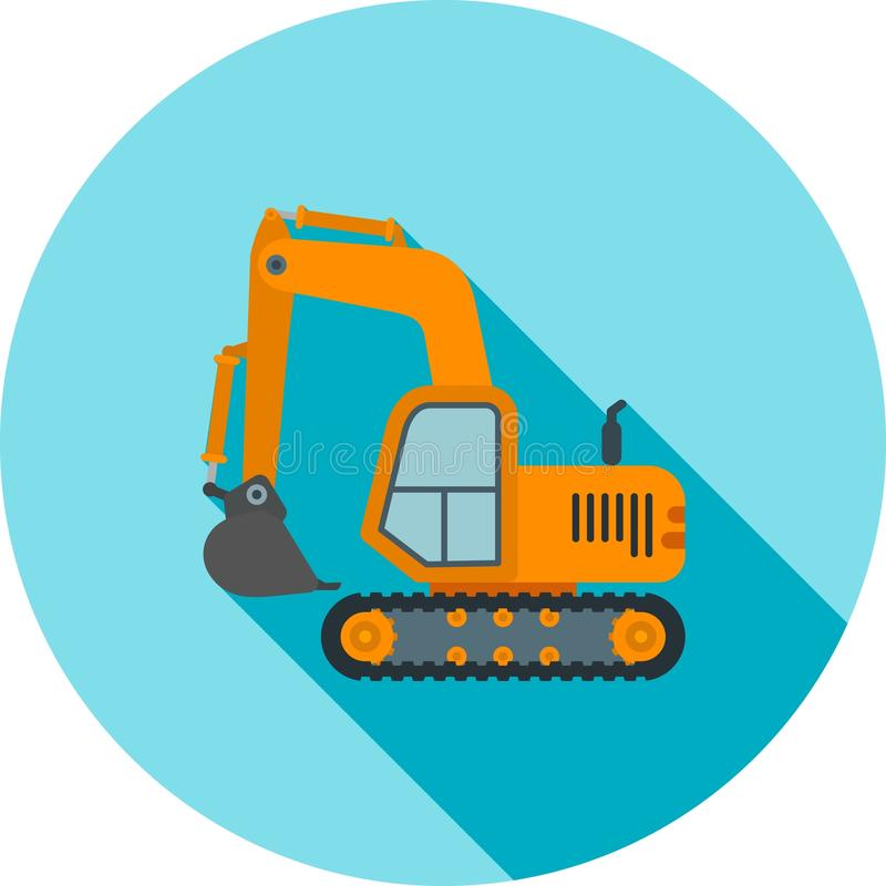 excavator ilustração royalty free
