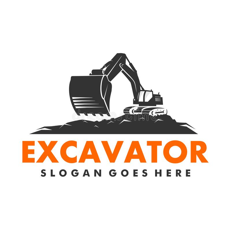Free Excavator And Backhoe Logo Vector Template Stock Photos - 179695793