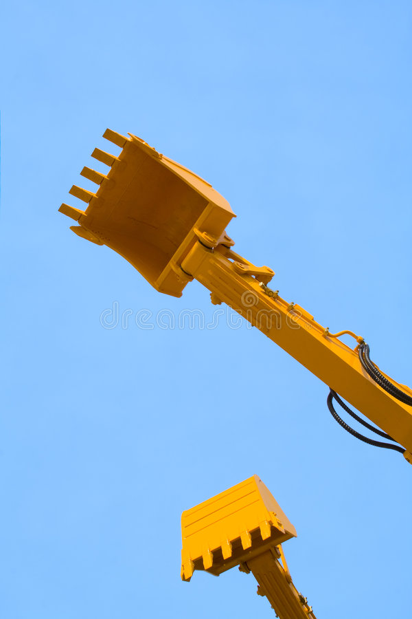 Excavator arms royalty free stock photos