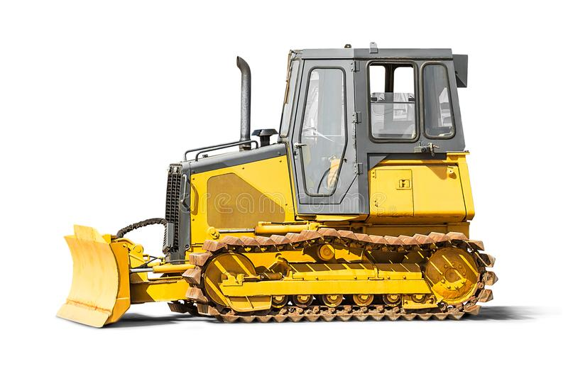 Excavator backhoe. Isolated on white background with clipping path royalty free stock image