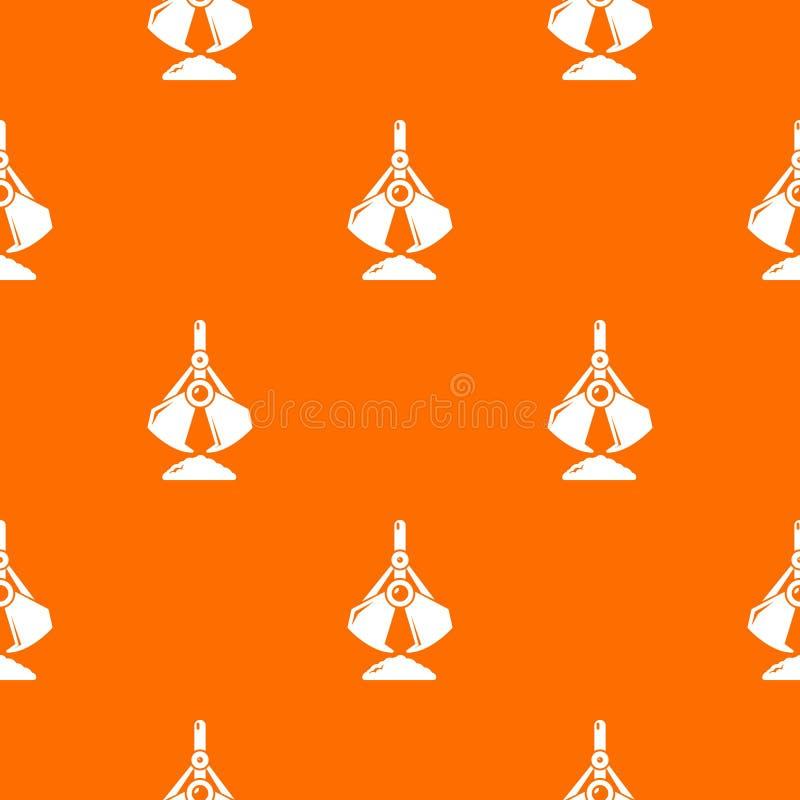 Excavator bucket pattern vector orange. For any web design best stock illustration