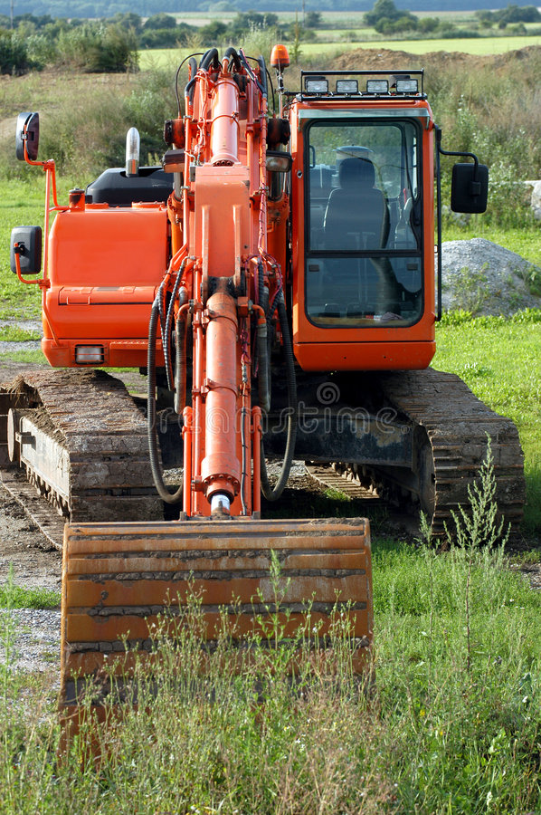 Download Excavator In Countryside Stock Image - Image: 1172161