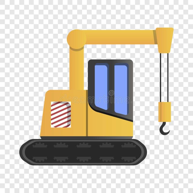 Excavator crane icon, cartoon style. Excavator crane icon. Cartoon of excavator crane vector icon for web design vector illustration