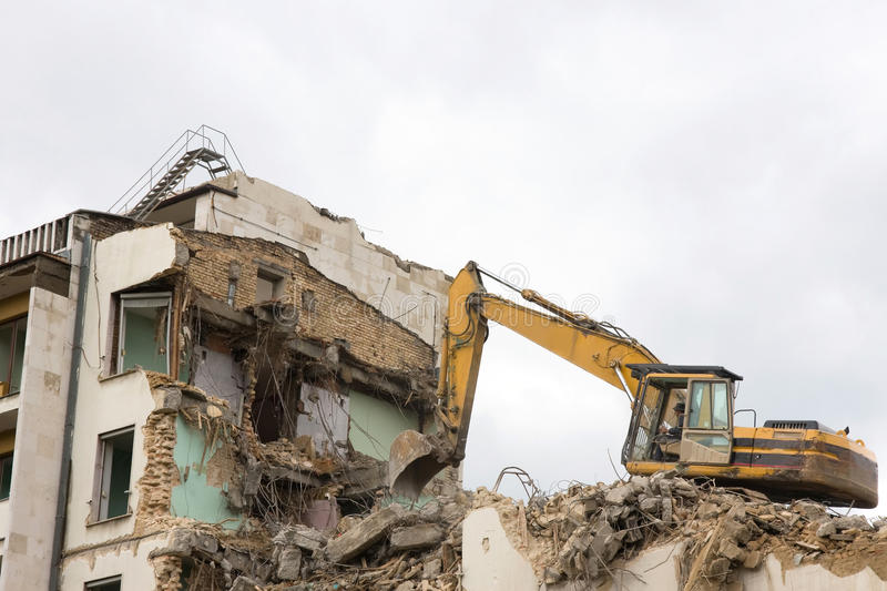Download Excavator and destruction stock image. Image of architecture - 14854753