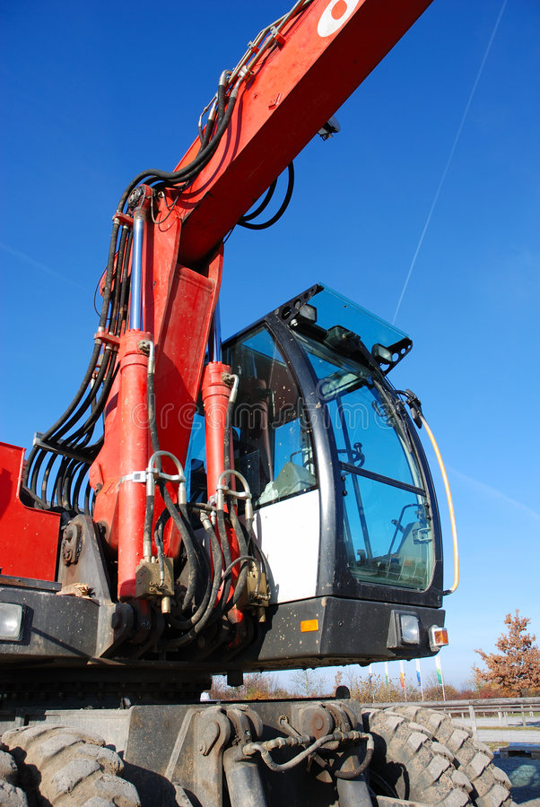 Excavator detail view royalty free stock photography
